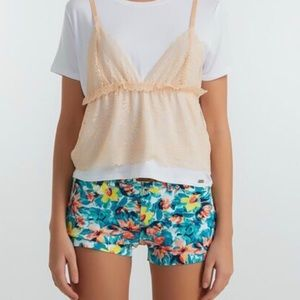 Guess Floral Denim Shorts